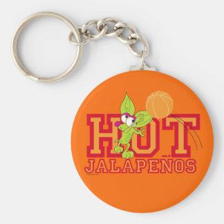 Hot Jalapenos team Basic Round Button Keychain