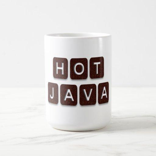 Hot Java Cup Classic White Coffee Mug