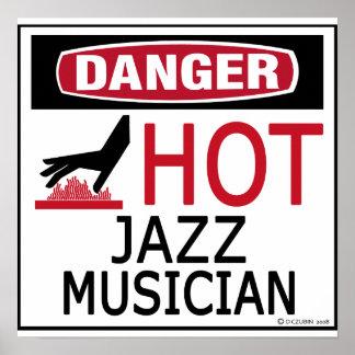 Hot Jazz Musician Poster