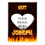 Hot Joseph fire and flames red marble. Large Business Cards (Pack Of 100)