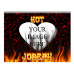 Hot Joseph fire and flames red marble. Postcard