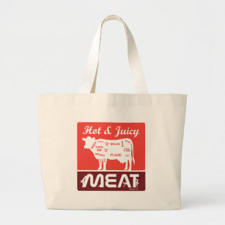 Hot & juicy meat large tote bag