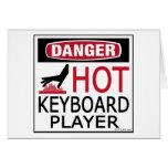 Hot Keyboard Player Greeting Card
