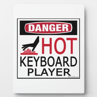 Hot Keyboard Player Photo Plaques