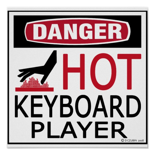 Hot Keyboard Player Poster