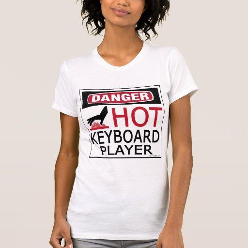 Hot Keyboard Player Tee Shirt