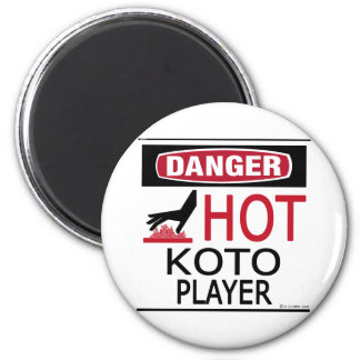 Hot Koto Player 2 Inch Round Magnet