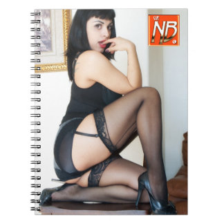 Hot Lady in Black Pinup Notebook