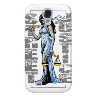 Hot Lady Justice by Street Justice Samsung Galaxy S4 Cases