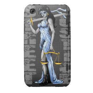 Hot Lady Justice by Street Justice Case-Mate iPhone 3 Case