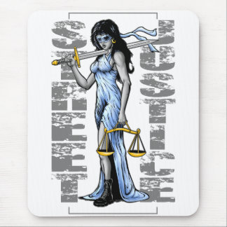 Hot Lady Justice by Street Justice Mouse Pads