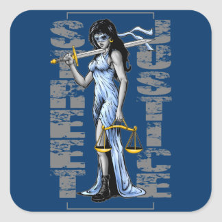 Hot Lady Justice by Street Justice Square Sticker