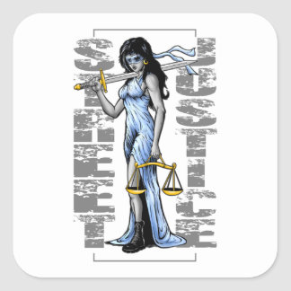 Hot Lady Justice by Street Justice Sticker