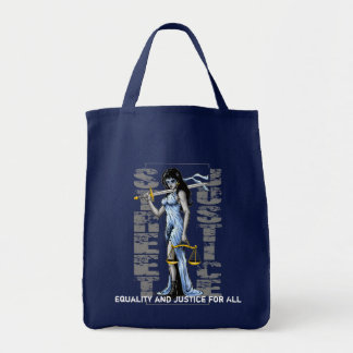 Hot Lady Justice *Personalized* by Street Justice Tote Bag