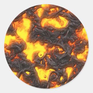 Hot Lava Classic Round Sticker