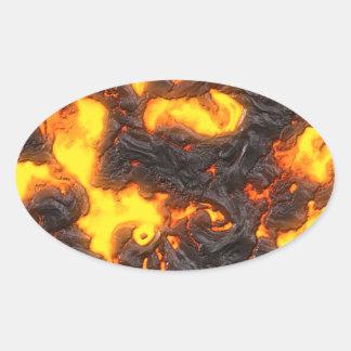 Hot Lava Oval Sticker