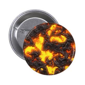 Hot Lava Pinback Button