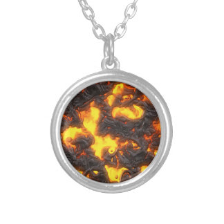 Hot Lava Silver Plated Necklace