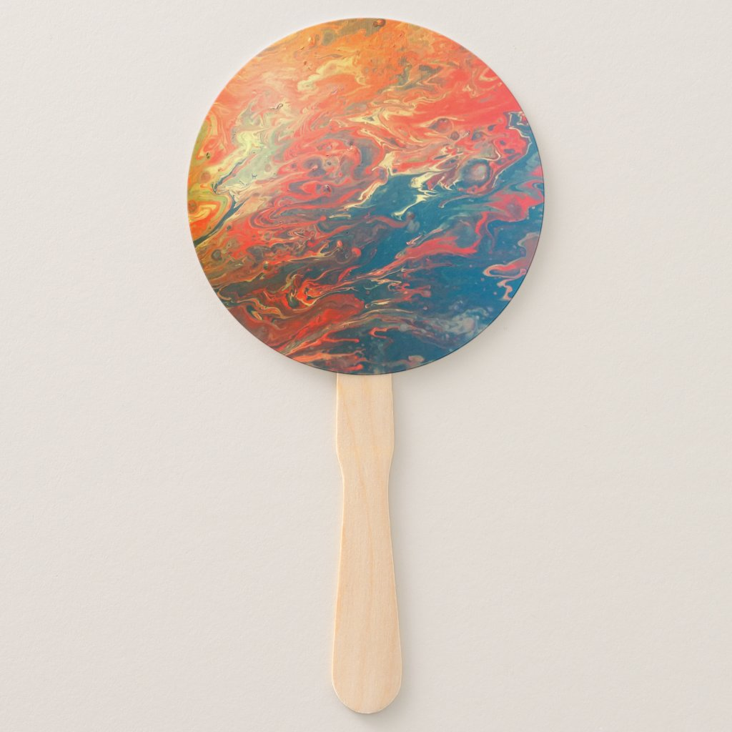Hot Lavah Flow Designed Hand Fand Hand Fan