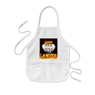 Hot Lawyer fire and flames red marble Kids' Apron