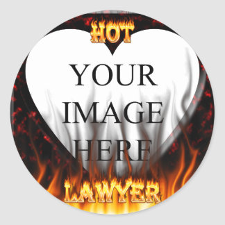 Hot Lawyer fire and flames red marble Stickers