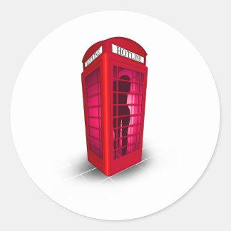 Hot Line box Pegatina Redonda