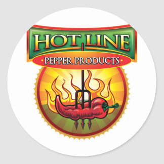 Hot Line Pepper Products Classic Round Sticker