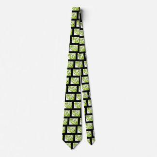 Hot Lips Green/Black Neck Tie