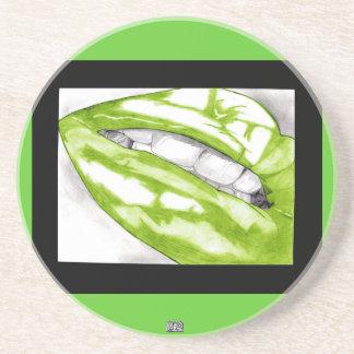 Hot Lips (Green) Coaster