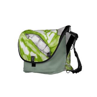 Hot Lips (Green) Courier Bag