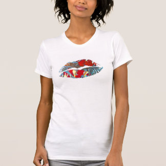 Hot Lips Ladies Shirt - Maroon Clownfish