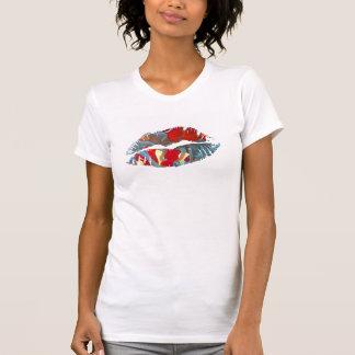 Hot Lips Ladies Shirt - Maroon Clownfish