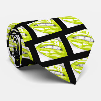 Hot Lips Lime/Black Neck Tie