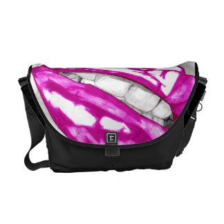 Hot Lips (Magenta) Courier Bag