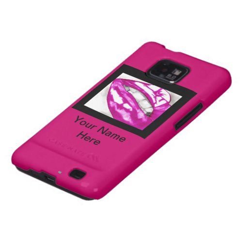 Hot Lips (Magenta) Samsung Galaxy SII Cases