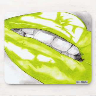 Hot Lips Mousemat (Lime) Mouse Pad