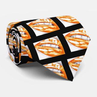 Hot Lips Orange/Black Neck Tie