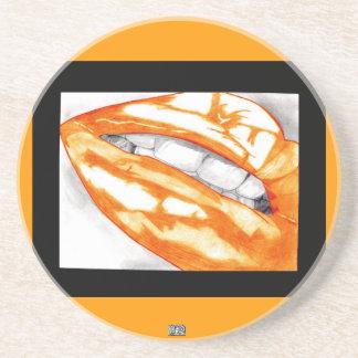 Hot Lips (Orange) Coaster