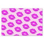 Hot Lips Pink Kiss Lipstick Print Tissue Paper