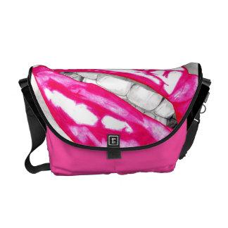 Hot Lips (Pink) Messenger Bags