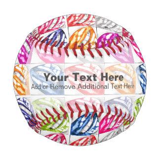Hot Lips Pop Art Baseball