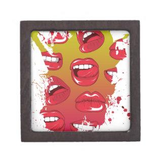 Hot Lips Premium Keepsake Box