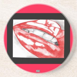 Hot Lips (Scarlet) Coaster