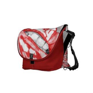 Hot Lips (Scarlet) rickshawmessengerbag