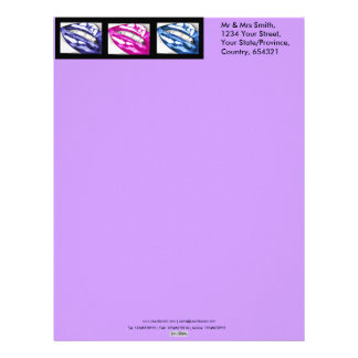 Hot Lips The Blues Stationary Letterhead