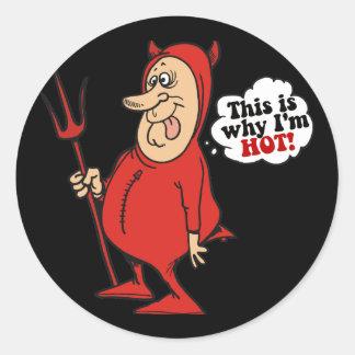 Hot Little Devil Classic Round Sticker