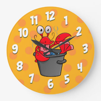 Hot lobster cartoon clock