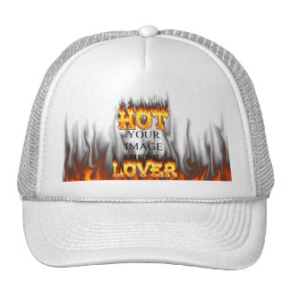 Hot lover fire and red marble trucker hat