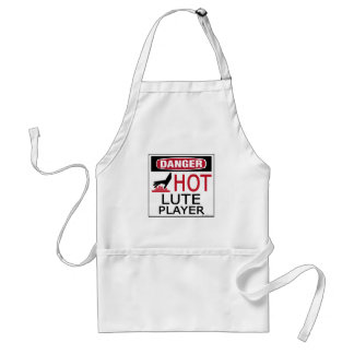 Hot Lute Player Adult Apron