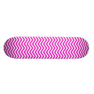 Hot Magenta Chevron Stripes Skateboard Deck
